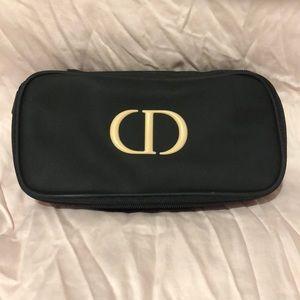 NWOT Dior Black cosmetic bag